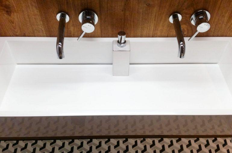 Washbasins in the hotel bathrooms