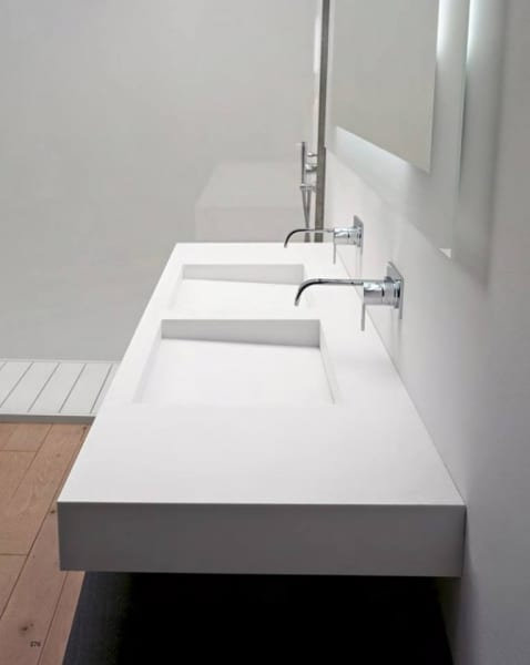 Double washbasins – the quintessence of modern bathrooms