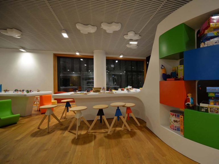 Small architecture – unusual furniture in The Museum Of The History Of Polish Jews