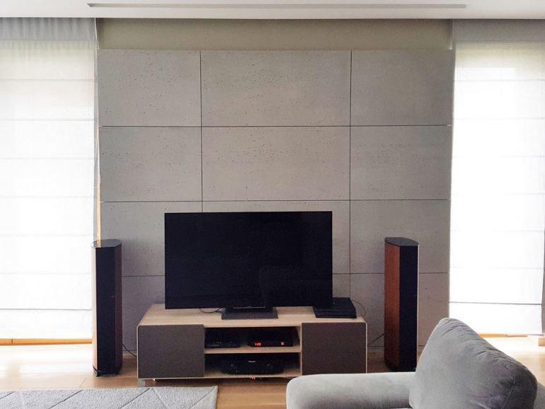 Concrete slabs adhesive mounting