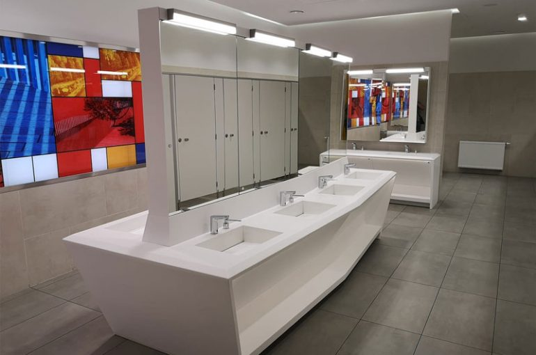 Washbasins for public bathrooms