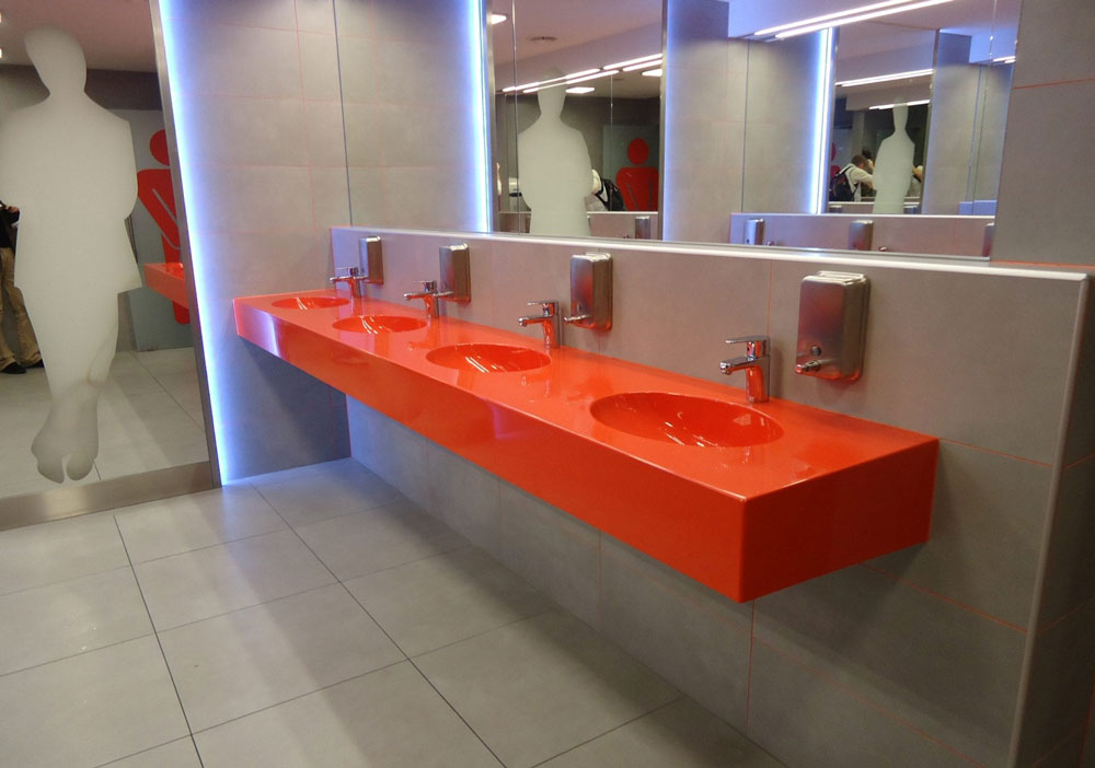 Multi Position Washbasins Bathroom Double Luxum